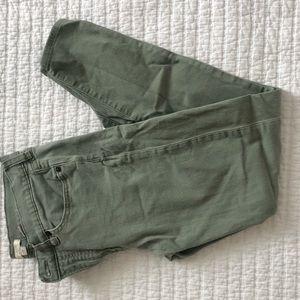 Green J.Crew stretch jeans
